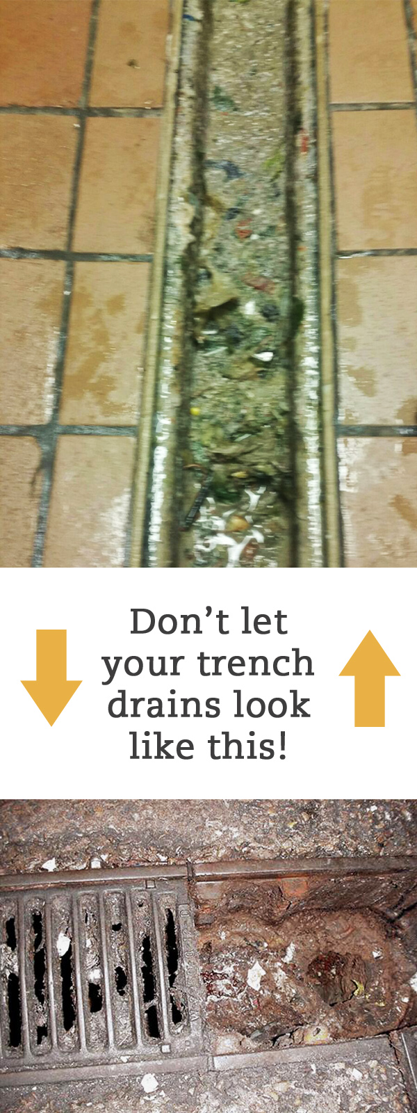 Clogged Trench Drains